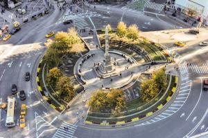 Compras en Columbus Circle, Nueva York