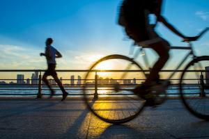 en bicicleta en Nueva York