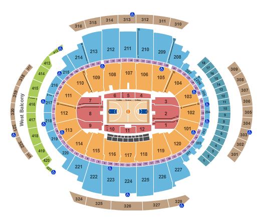 Plano Madison Square Garden: baloncesto en Nueva York - knicks