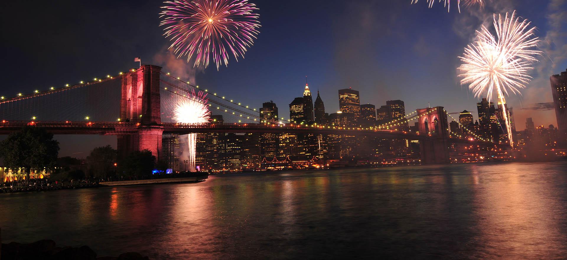 Fuegos artificiales del 4 de Julio en Nueva York