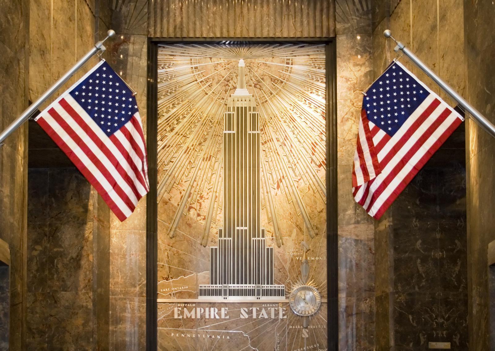 Entrada al edificio empire state de Nueva York