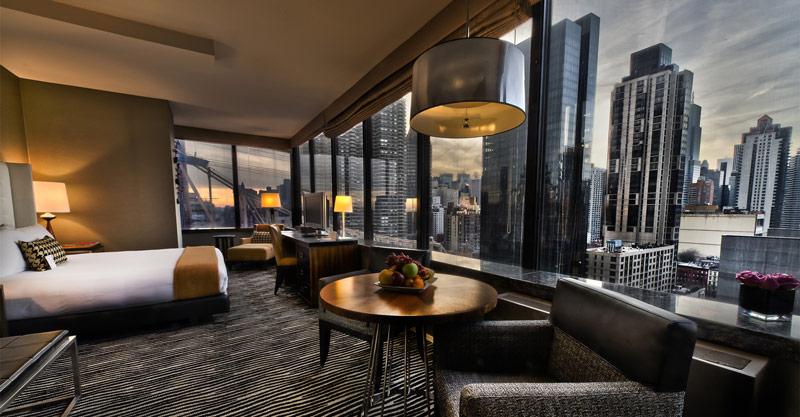 Inolvidable vista de Nueva York desde el Hotel