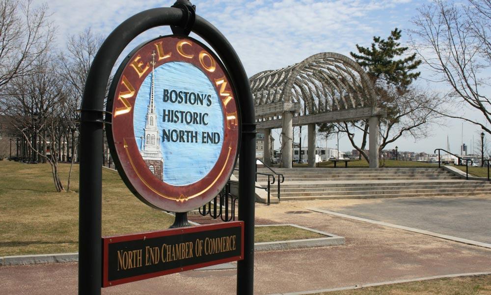 Schild vom North End in Boston