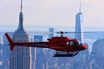Los principales edificios de la ciudad desde un tour en helicóptero en nueva york