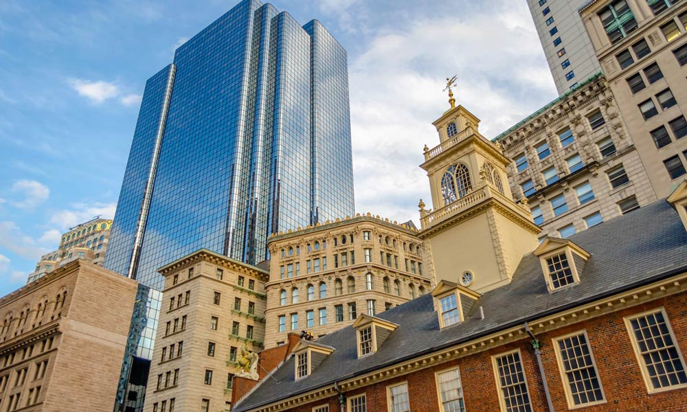 exchange place building in boston