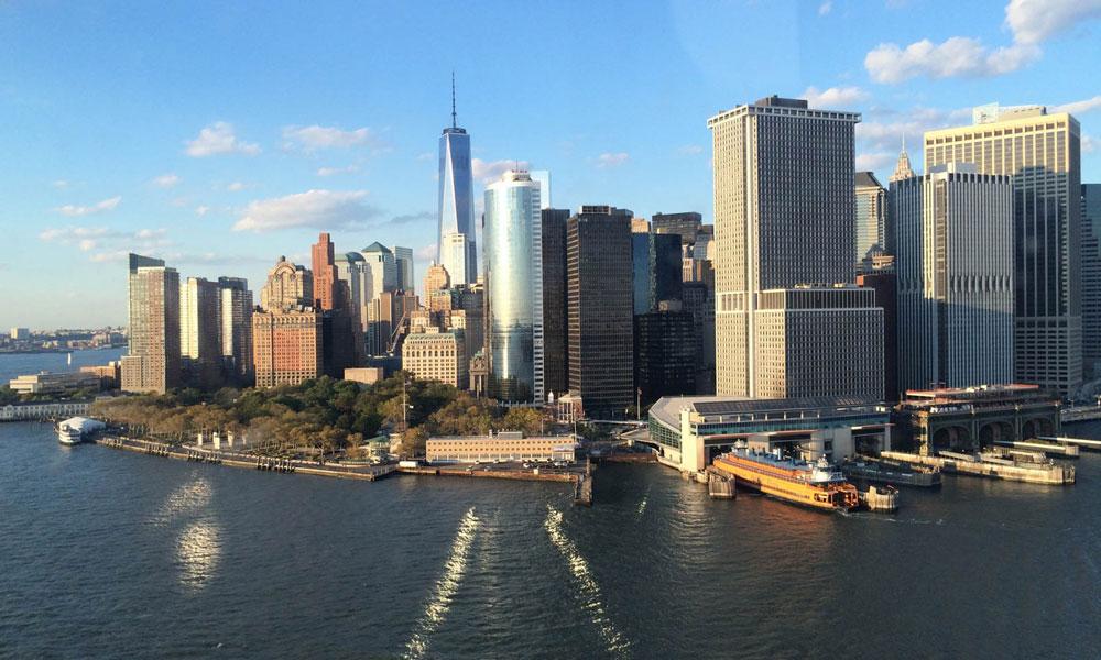helikoptertour in new york aussicht auf lower manhattan