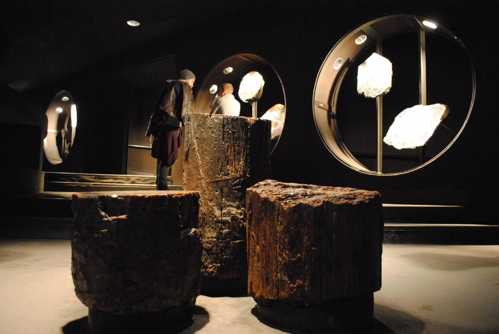 Minerales y piedras preciosas en el Museo de Historia Natural de Nueva York