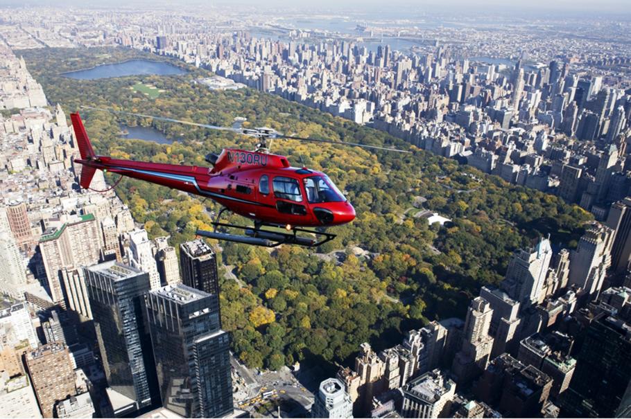 helikopter über dem central park