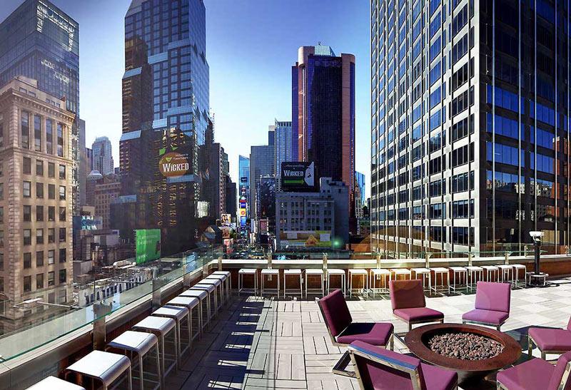 Hotel con vistas del Times Square de Nueva York