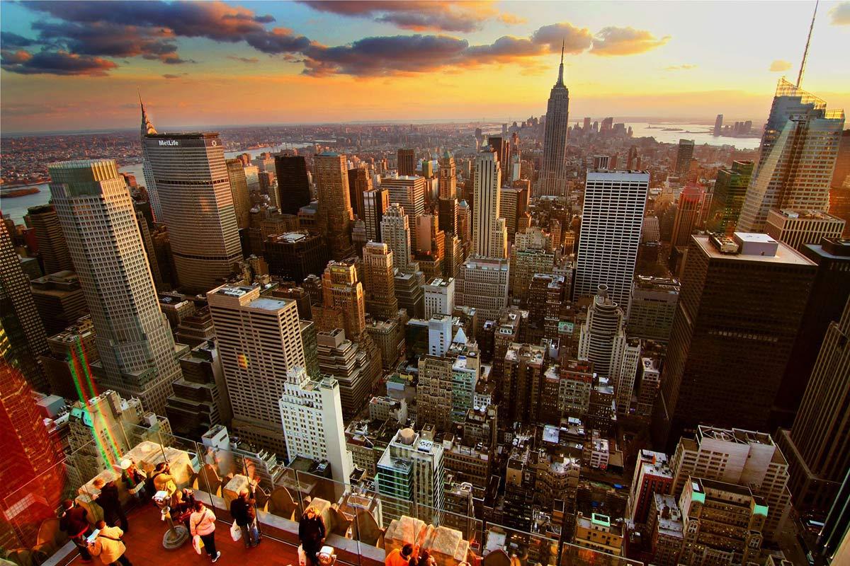 Blick von Top of the Rock New York