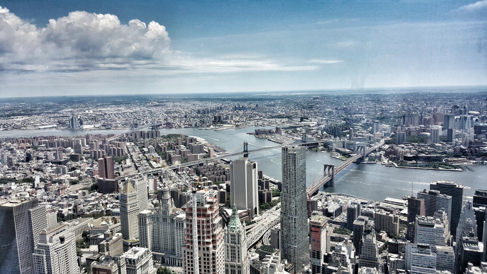 Vista desde el Mirador del OWTC en la Zona cero de Nueva York
