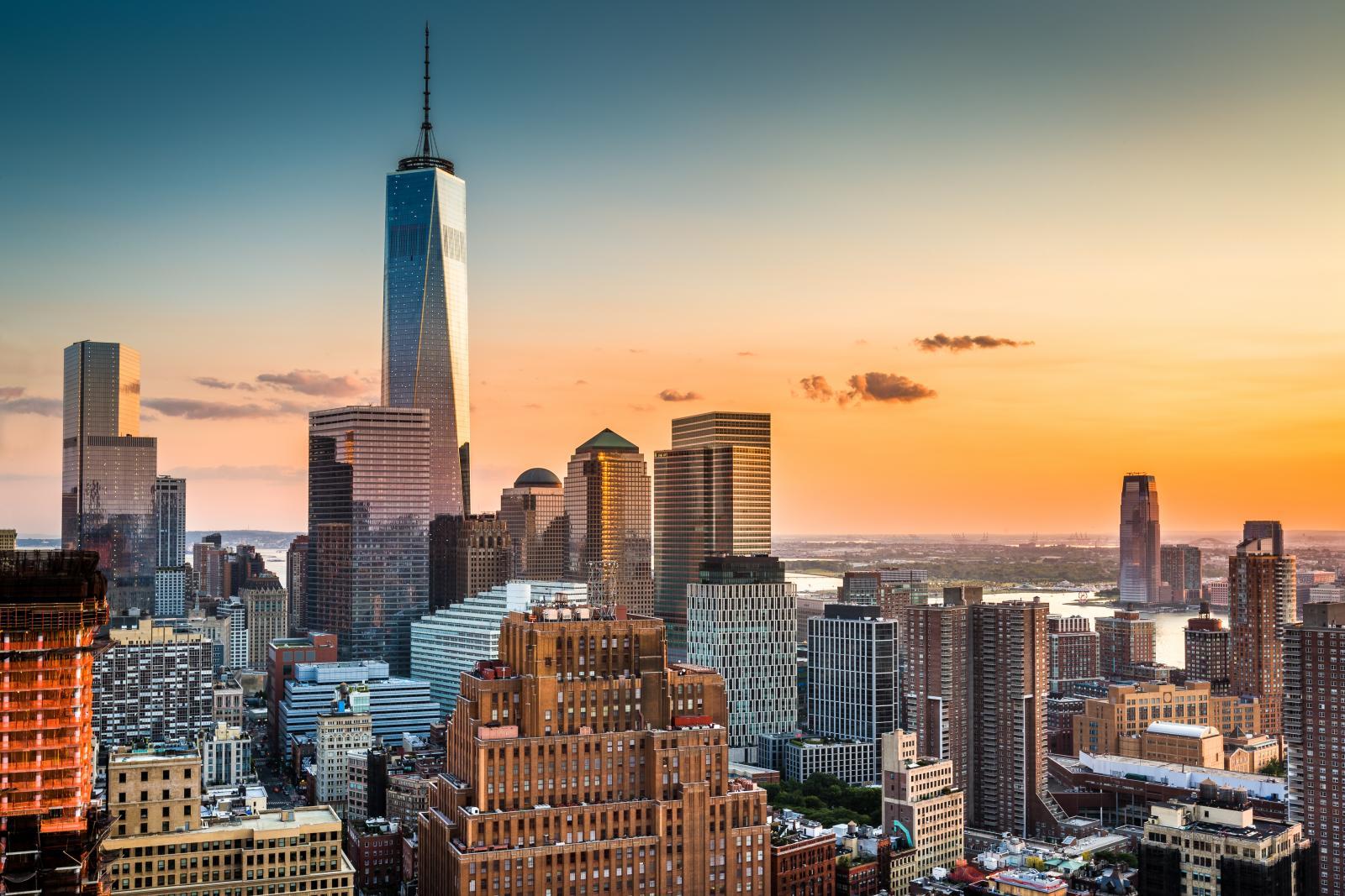 El One World Trade Center en Lower Manhattan