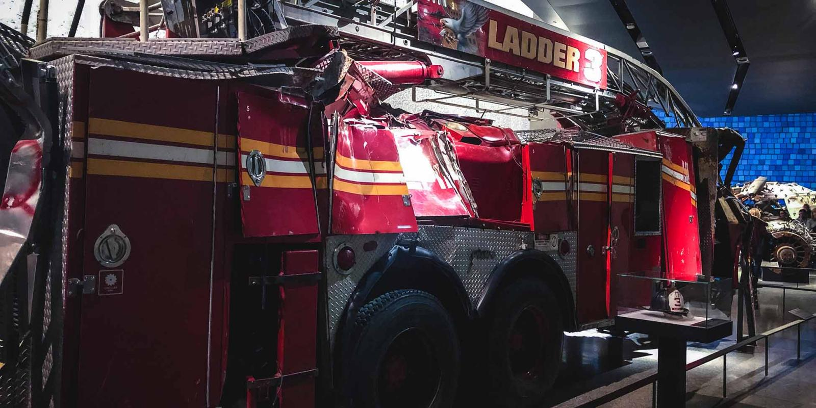 Un coche de Bomberos en el Museo del 11-S de Nueva York