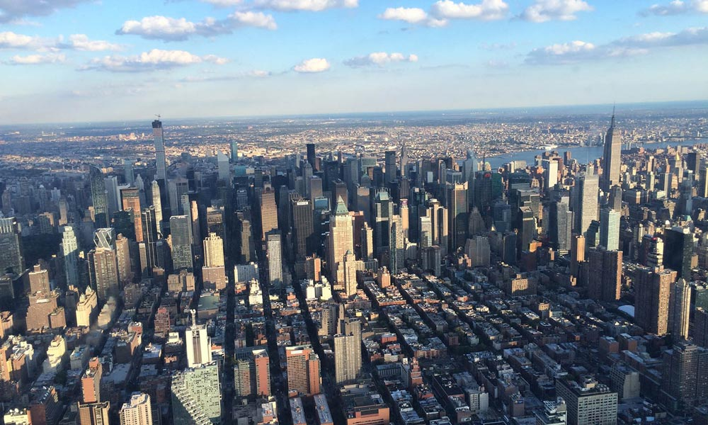 midtown manhattan vom helikopter aus