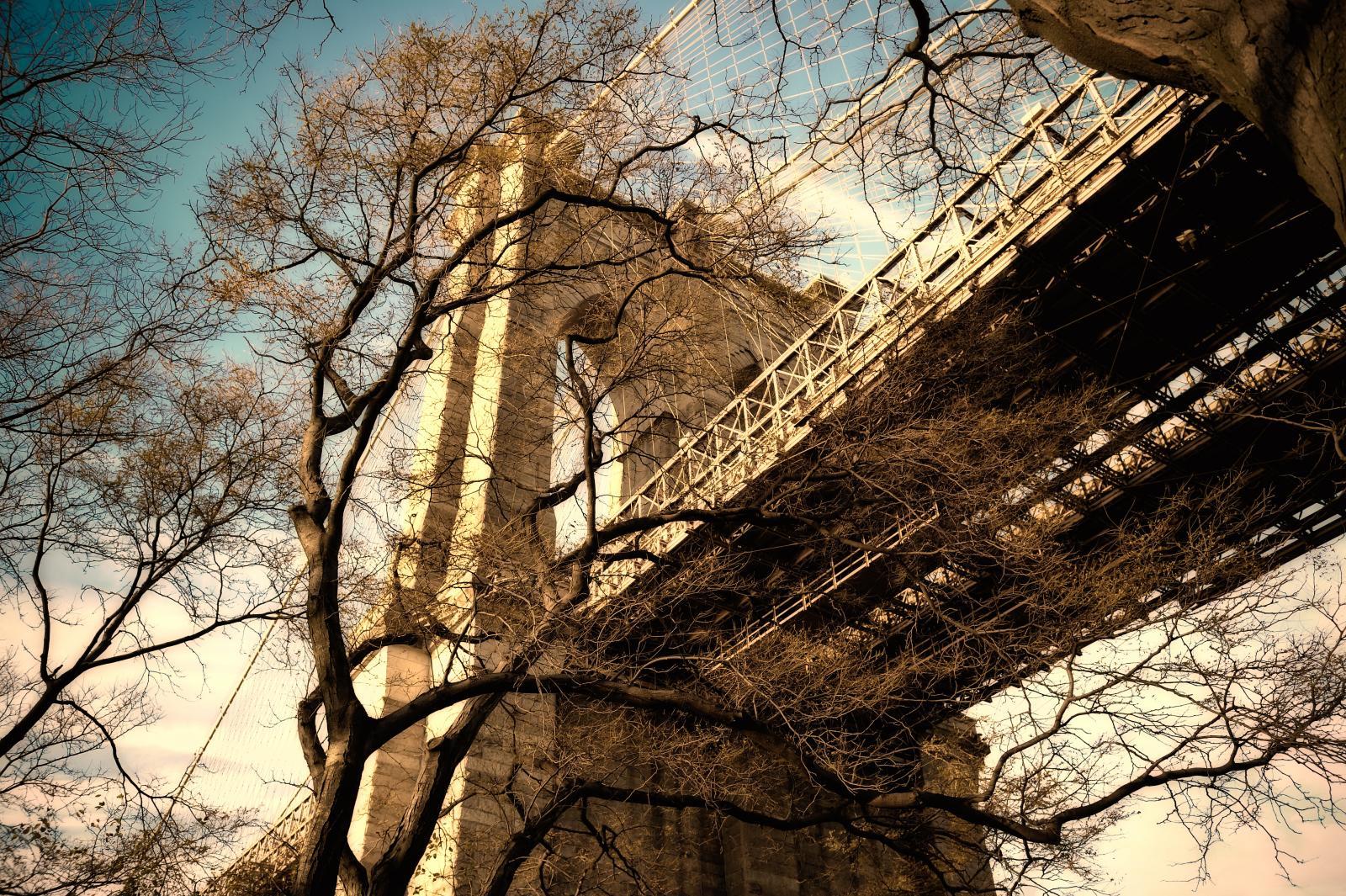El Puente de Brooklyn un día de invierno