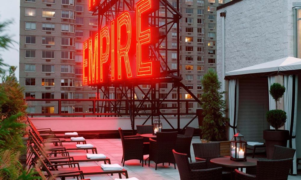 Neon del Empire hotel de Nueva York