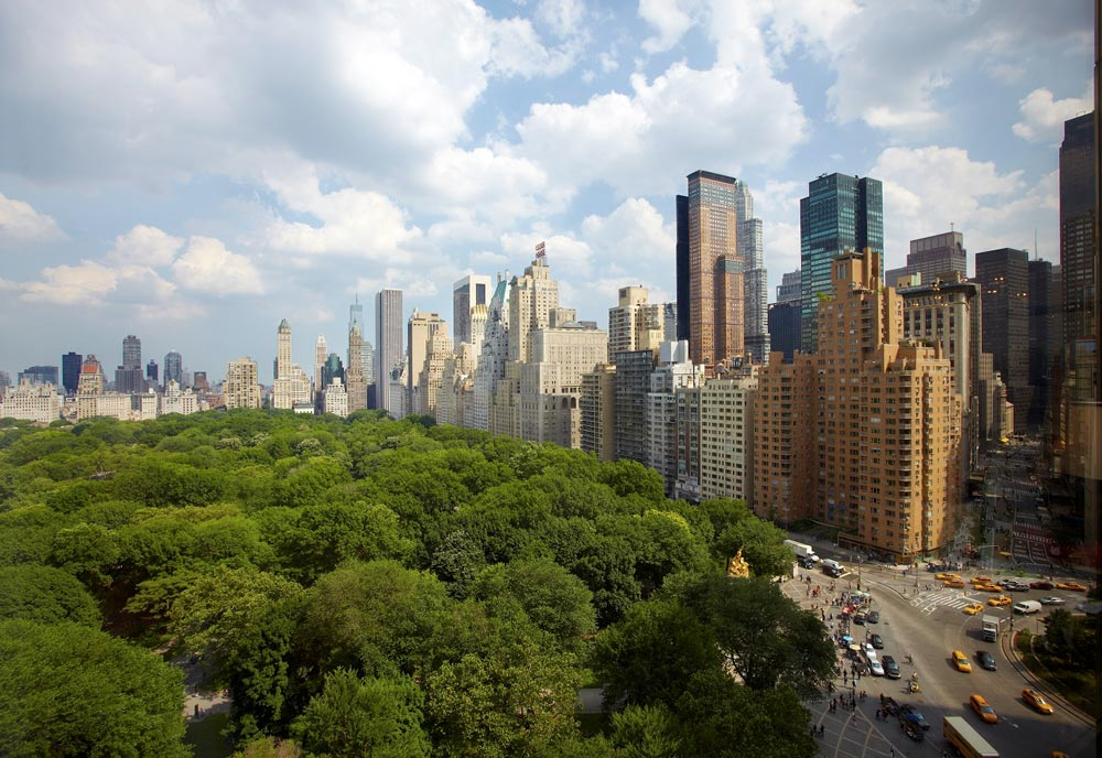 ausblick auf den central park vom trump international hotel new york