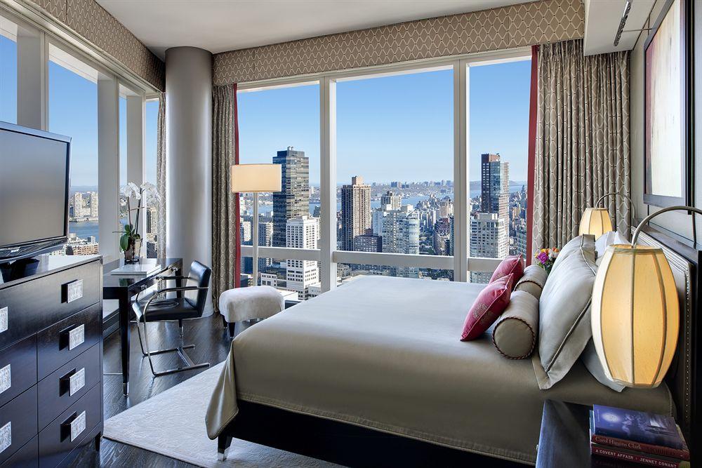 Vistas al Hudson River de Nueva York desde el Mandarin Oriental Hotel