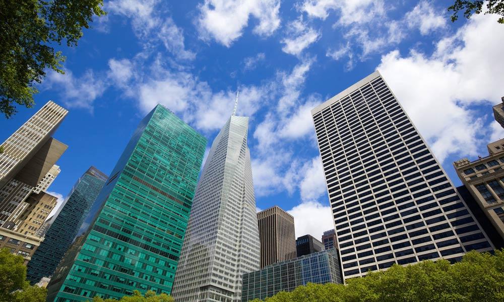 wolkenkratzer um den bryant park herum