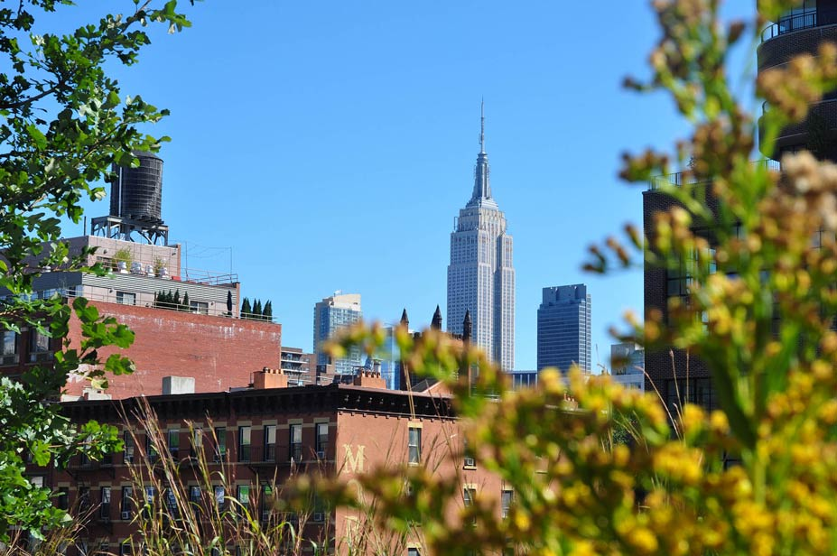 Empire State desde el high line park auf das empire state building