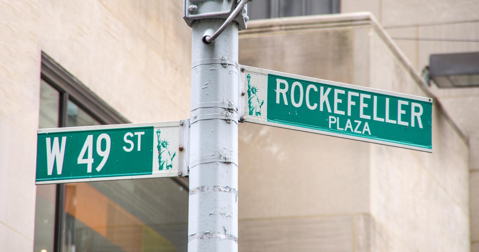 Rockefeller Plaza en Nueva York