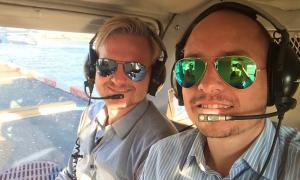 Nuestro vuelo en helicóptero en Nueva York