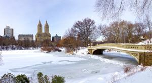 Central park en Febrero en Nueva york