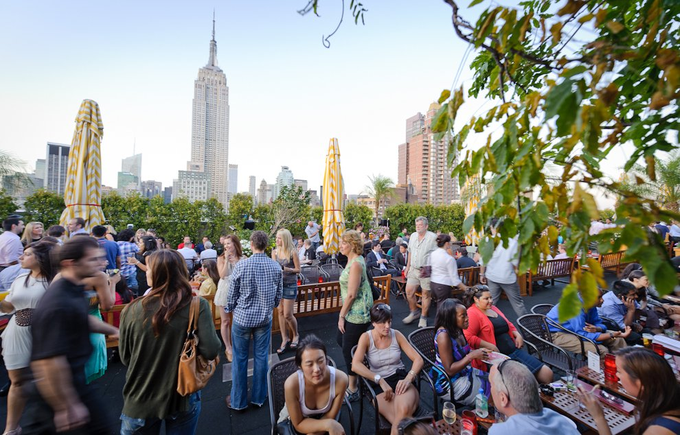 One of the, if not the, #1 rooftop bar in NYC.