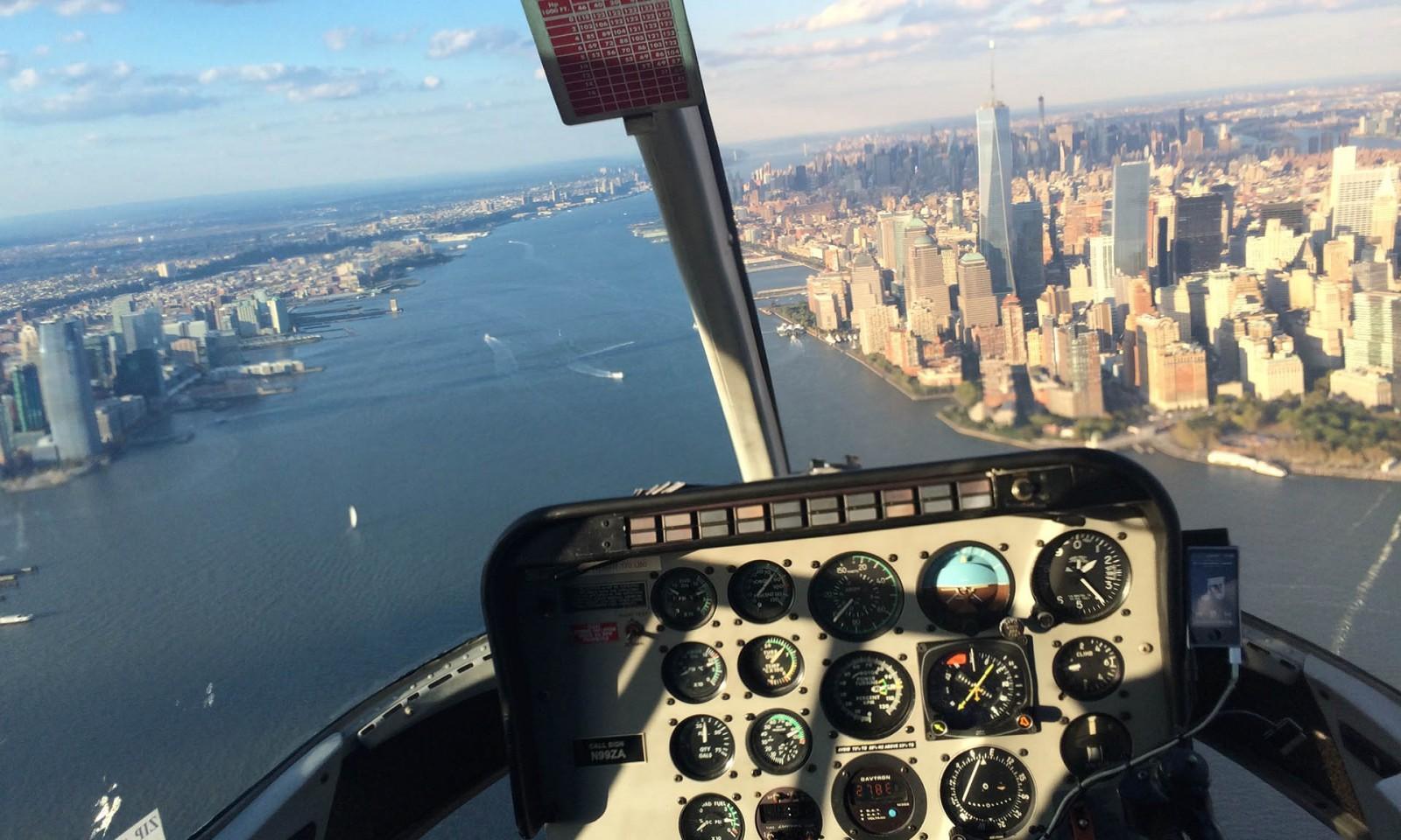 Vista desde helicóptero Nueva York