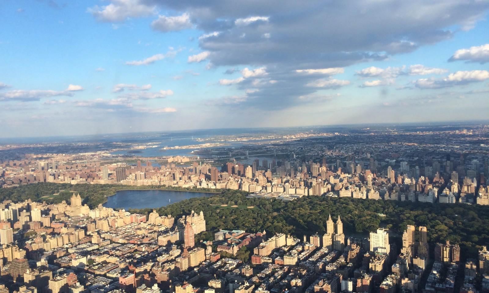 Central park desde el Manhattan Sky tour en helicóptero en Nueva York