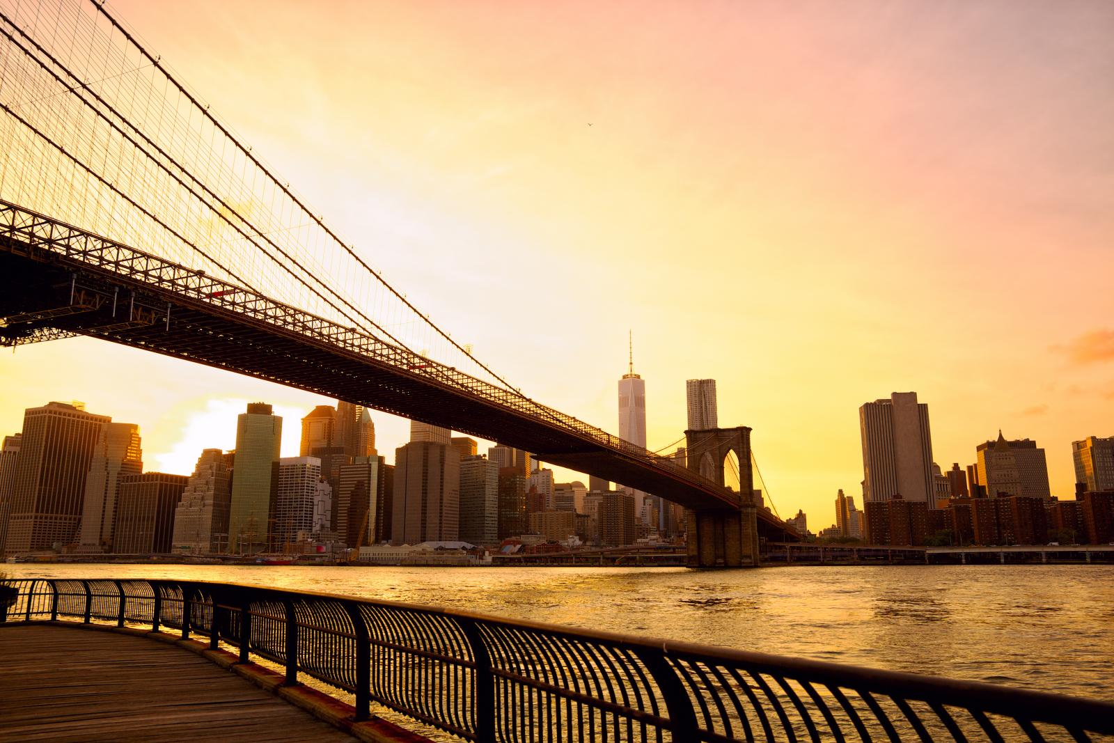 Atardecer en Nueva York: Brooklyn Bridge