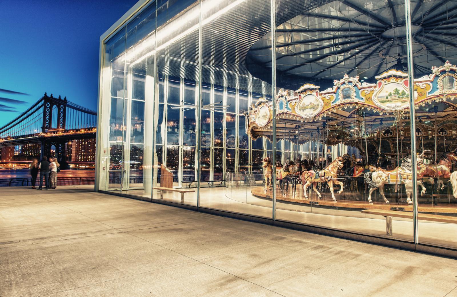 Jane's Carousel en el Brooklyn Bridge Park