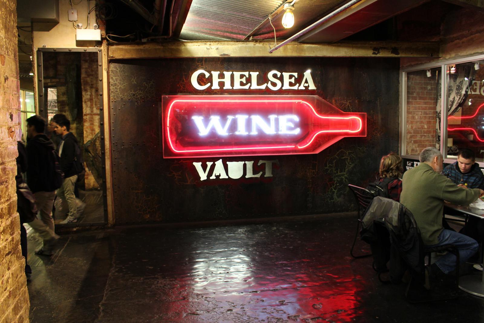 Chelsea Market puesto de vino