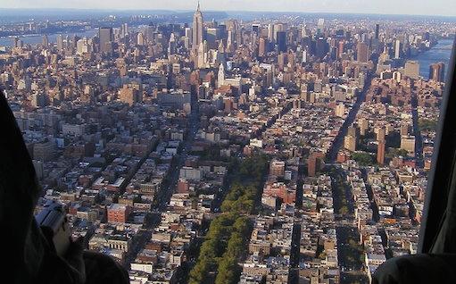 Vista de Nueva York en helicóptero
