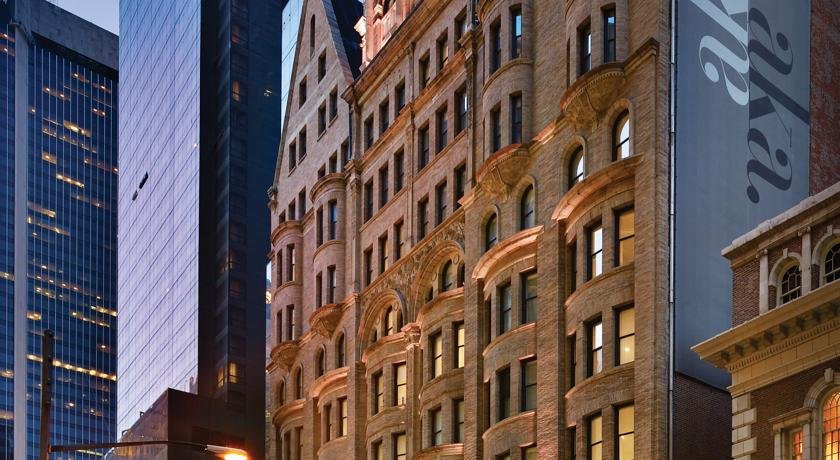 Fachada AKA hoteles Times Square