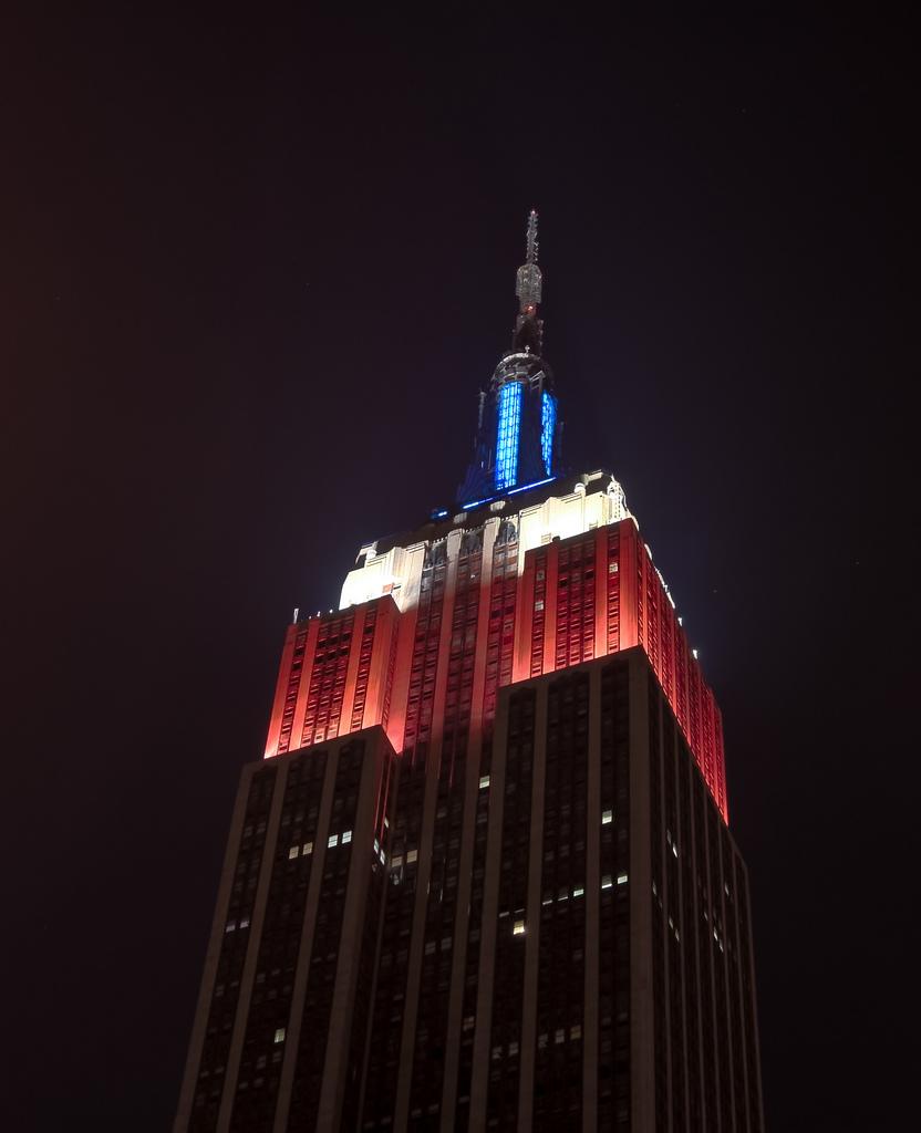 Empire State Building durante el Memorial Day