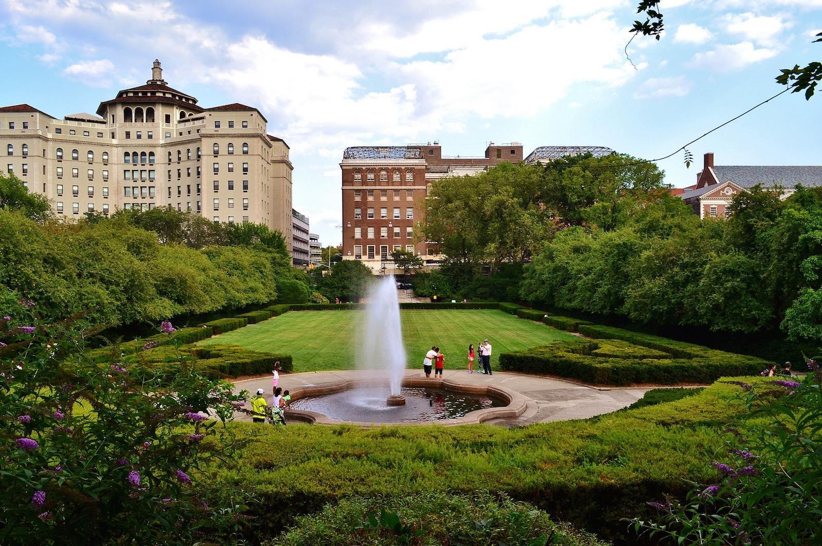 Conservatory Garden en Central Park en verano