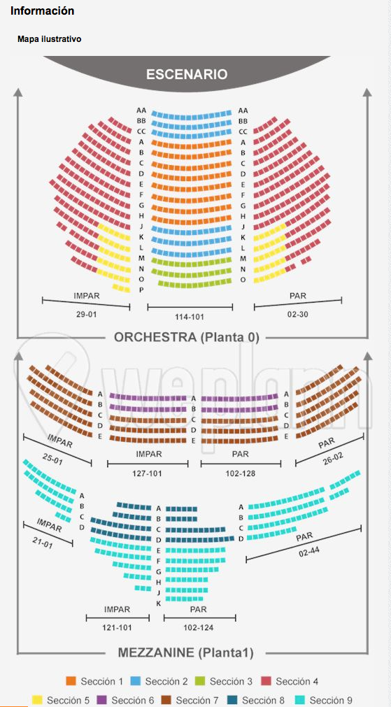 Asientos musical chicago en Broadway