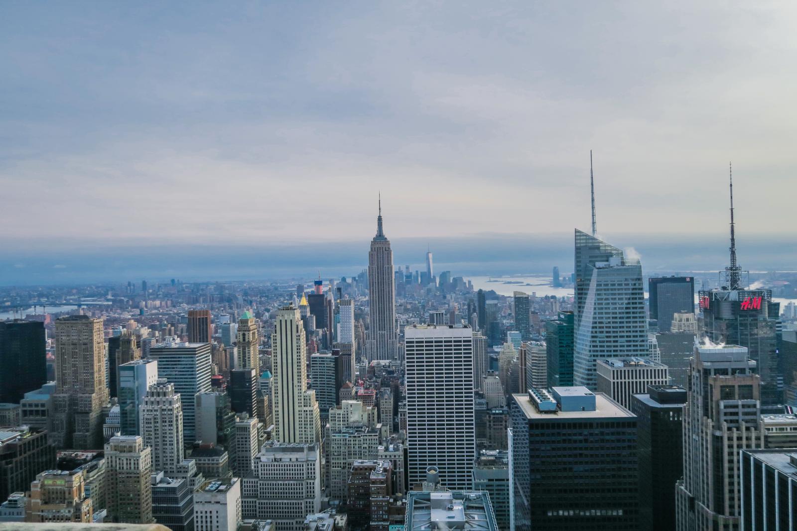 Vista del Empire State Building desde el mirador del Rockeffeler: TOTR