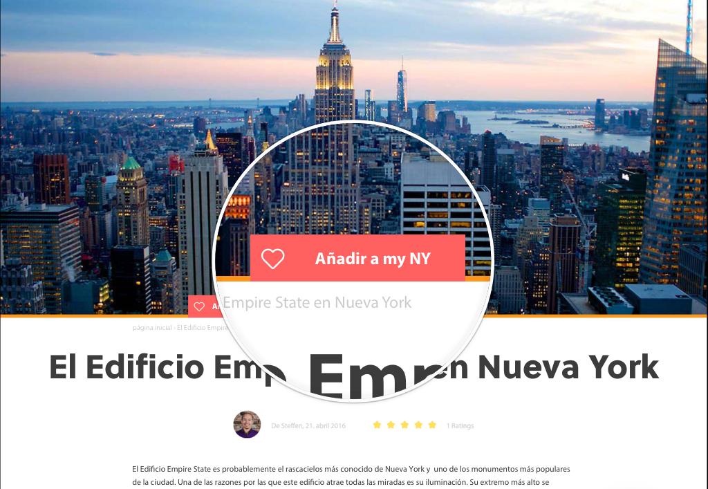 Crea tus itinerarios personalizados para Nueva York con my NY