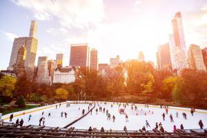 Noviembre en Nueva York: patinaje sobre hielo