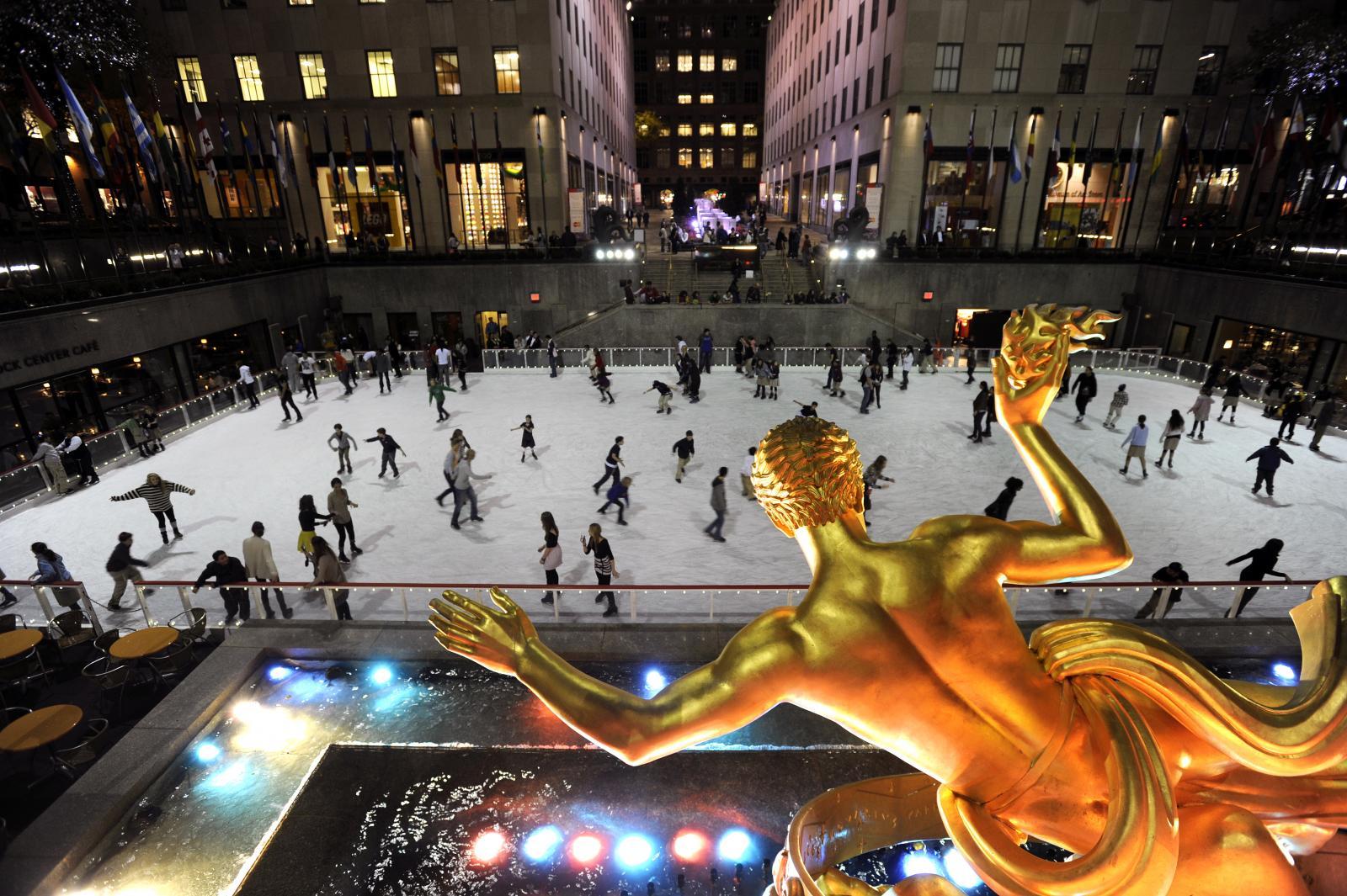 Pista de hielo del Rockefeller Center de Nueva York