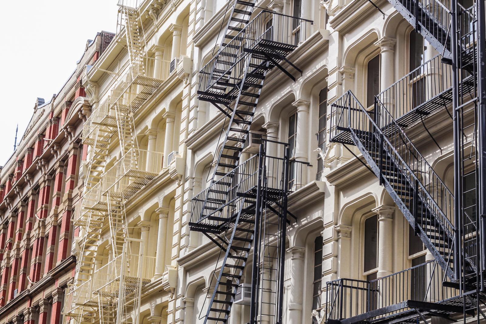 Arquitectura Cast Iron en el Soho de Nueva York
