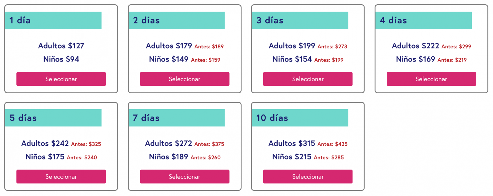 Precios de New York Pass