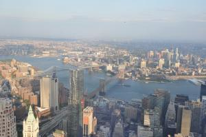 Vistas desde el World Trade Center de Nueva York