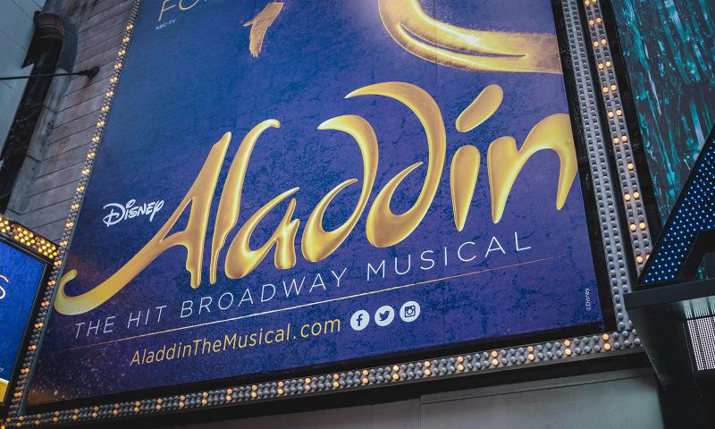 Aladdin Musical de Broadway en Nueva York