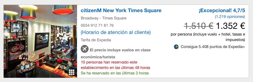 Viajes baratos a Nueva York: Vuelo+ Hotel