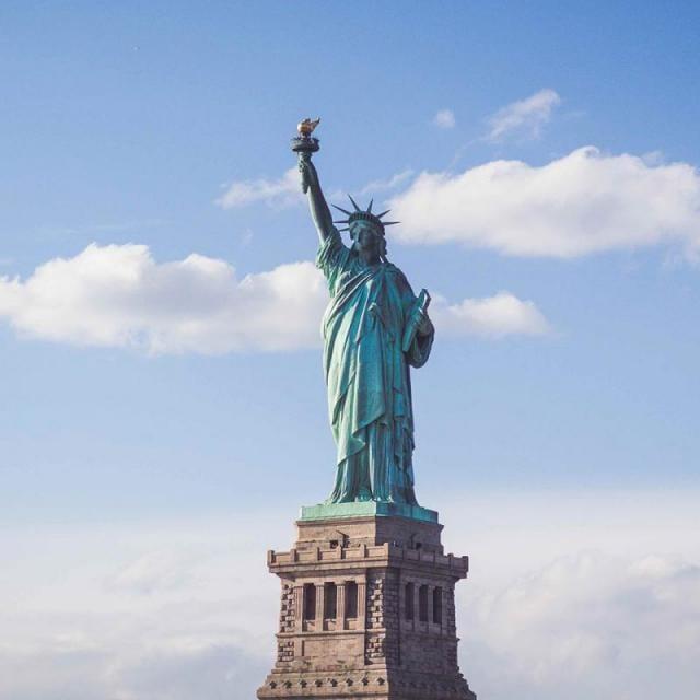 La corona de la Estatua de la Libertad